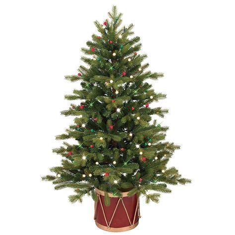 shop ge 4 ft pre lit colorado spruce slim artificial