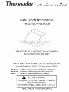 Thermador Phh30zs Installation Instructions Manual Pdf