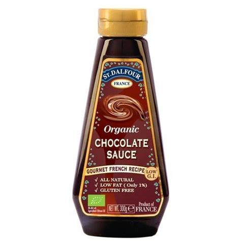 chocolate sauce st dalfour organic chocolate sauce 300g by st dalfour