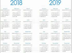 New Year 2018 And 2019 Vector Calendar Modern Simple