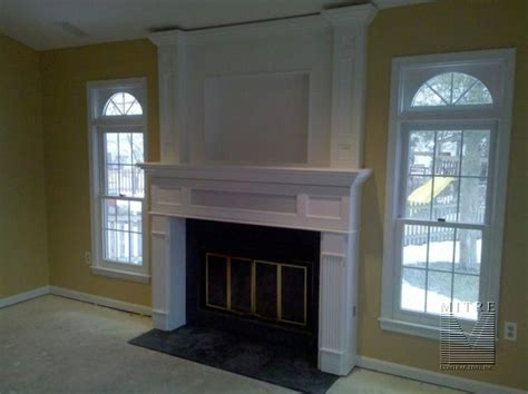tv above fireplace where to put components soundbar recessed into fireplace mantle needs ideas