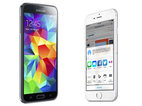 s5 vs iphone 6 iphone 6 and iphone 6 plus vs samsung galaxy s5 and htc