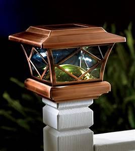 Menards Post Lights Deck Solar Lights Post Caps Home Design Ideas