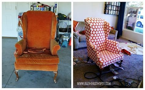 recouvrir une chaise before and after diy reupholstering furniture ideas