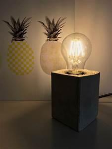 Lampe Dimmbar Machen : lampe mit sockel aus beton selber machen hello mime ~ Markanthonyermac.com Haus und Dekorationen