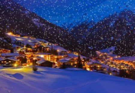 winter village winter nature background wallpapers