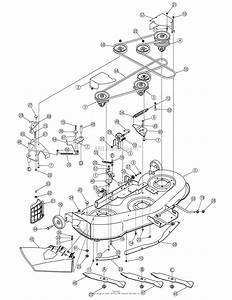 Mtd 13an601h729  2006  Parts Diagram For Deck Assembly