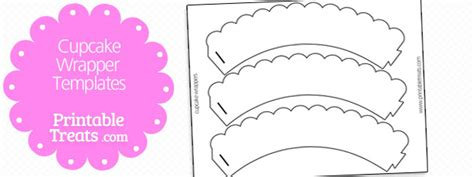 cupcake wrapper template printable treatscom
