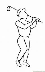 Golf Coloring Player Pages Bag Drawing Coloringpages101 Getdrawings sketch template
