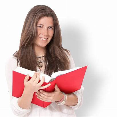Holding Open Scanning Books Young Smiling Into