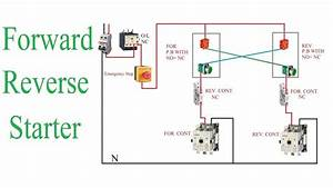 Forward Reverse Starter Working Principle   Reverse Forward Motor