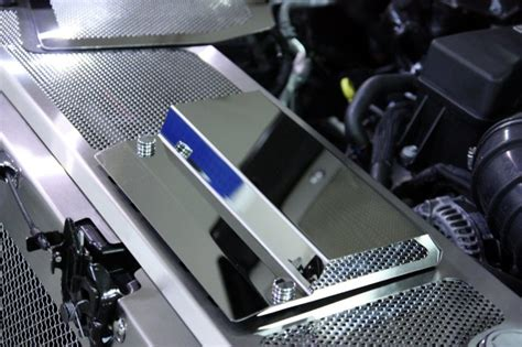 Ford Racing Fuse Box by Ford Raptor Perforated Header Plate With Battery Cover