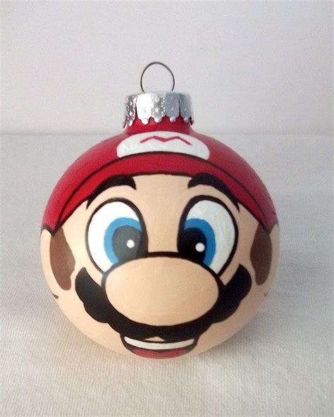 super mario hand painted christmas ornament nintendo by
