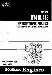 Subaru Robin Dy41 Manual Del Usuario Pdf Subaru