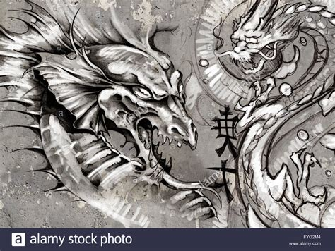 tattoo drachen stockfotos tattoo drachen bilder alamy