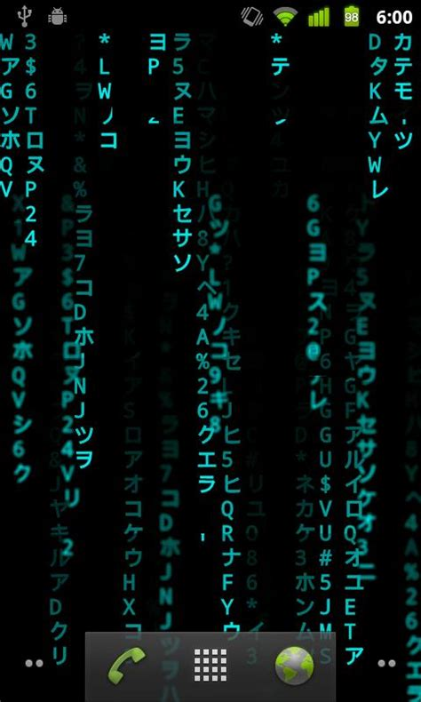 Matrix Animated Wallpaper Android - make morpheus proud with best matrix live wallpaper for