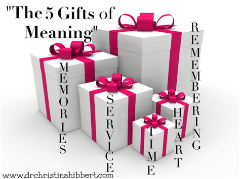 quot the 5 gifts of meaning quot dr christina hibbert