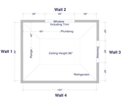 kitchen measurement  design instructions solid wood cabinets