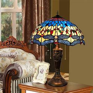 40cm, Color, Glass, Living, Room, Restaurant, Bedroom, Bedside, Zipper, Desk, Lamp, Mediterranean, Blue