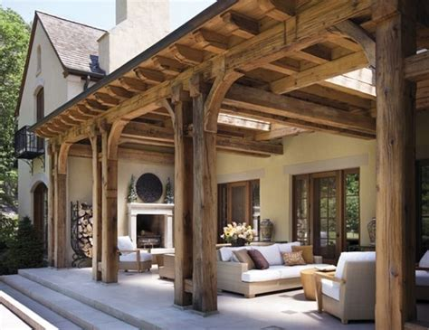rustic patio cover for the home outdoor