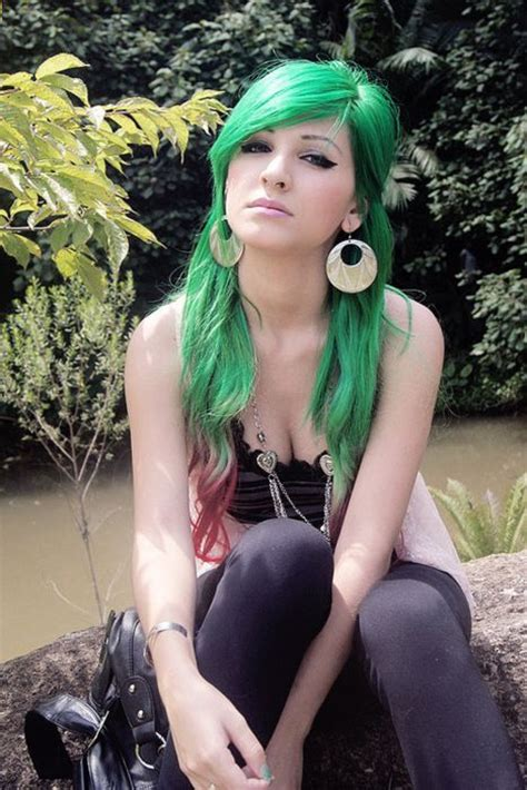 15 Awesome Green Hairstyles Color Inspiration Strayhair