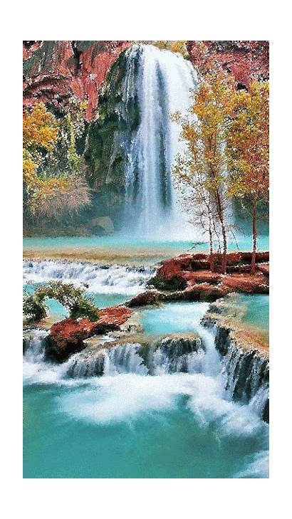 Places Waterfall Nature Waterfalls Canyon Peaceful Grand