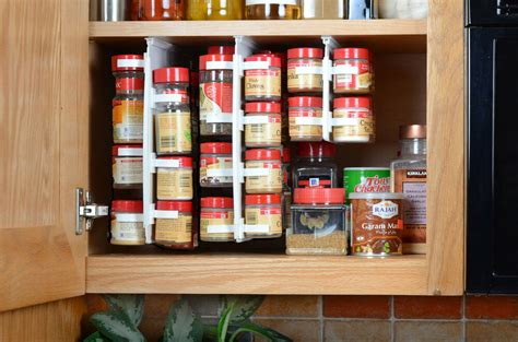 In Cupboard Spice Rack by Easy Access Spice Organizer Rack 40 Clip Storage Design