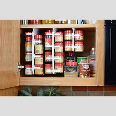 Easy Access Spice Organizer Rack 40 Clip Storage Design
