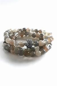 Moonstone Mala Necklace or Wrap Bracelet / Natural ...