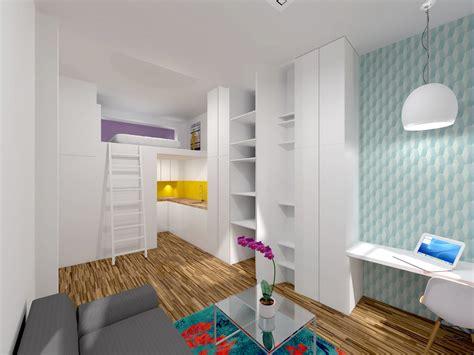 salle de bain avec meuble de cuisine ancienne loge de gardien transformée en studio mezzanine