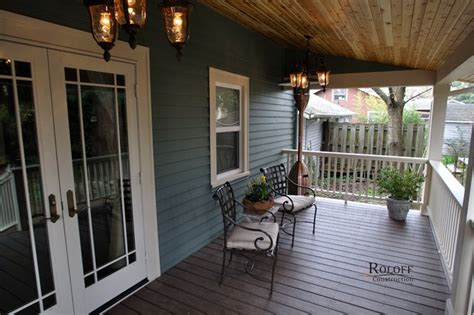 Build Back Porch by Sellwood Garage And Back Porch Craftsman Porch