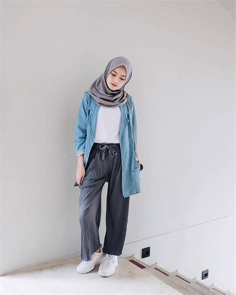 pin oleh alifahhaf  hijab model pakaian remaja gaya