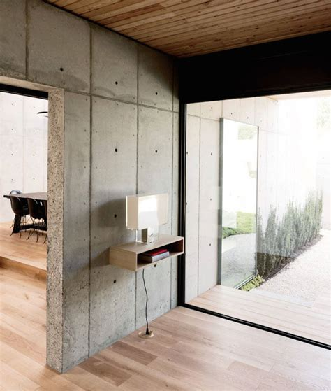 concrete box house  robertson design design