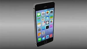 Iphone 5S Black 3D Model .obj .blend - CGTrader.com