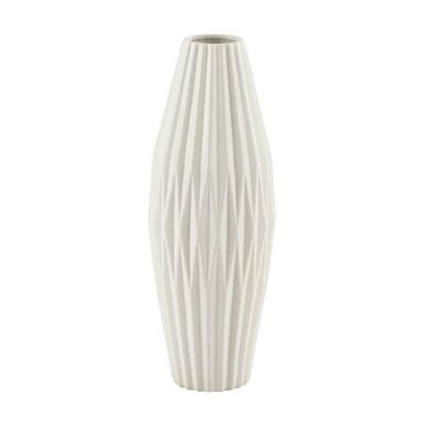 vaso bianco vaso bianco in ceramica h 48 cm maisons du monde