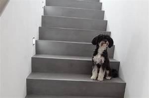 Auf Fliesen Spachteln : betontreppe gespachtelt treppenbeschichtung betonoptik ~ Michelbontemps.com Haus und Dekorationen