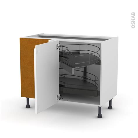 meuble de cuisine angle bas meuble de cuisine angle bas ipoma blanc brillant demi lune