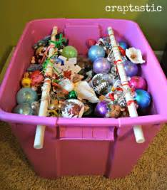 craptastic cheap and easy diy christmas ornament storage