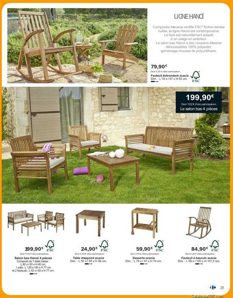 Salon De Jardin Hanoï Carrefour Collection 2017  Carrefour