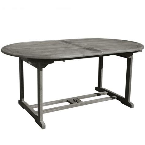 extendable oval patio dining table in v1296