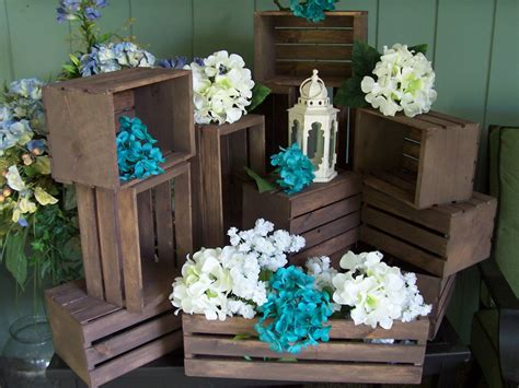 Wedding Centerpiece Wood Crates 18 In Rustic By Primitivearts