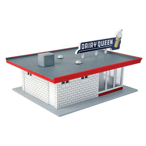 Walthers Cornerstone Ho Scale Vintage Dairy Queen Kit