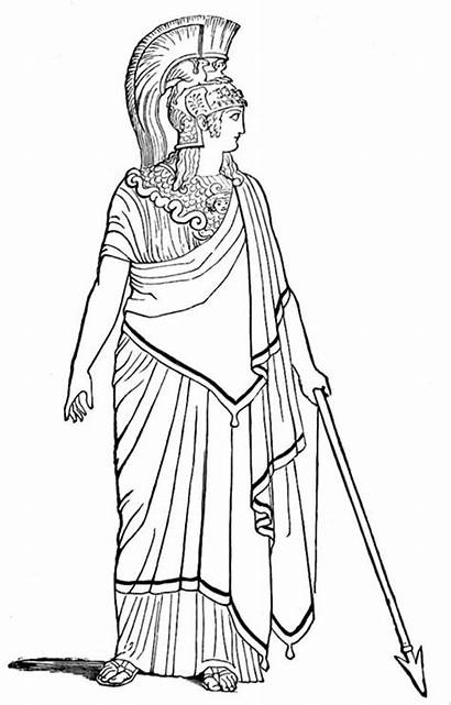Coloring Ancient Rome Pages Goddess War Roman