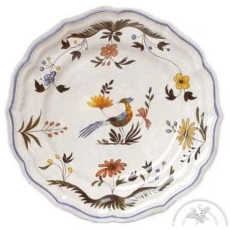 service de table fa 239 ence oiseau de paradis gien saulaie
