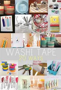 20 Washi Tape Projects Crafts DIY Inspiration Picklee