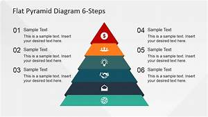 6 Steps Flat Pyramid Powerpoint Diagram