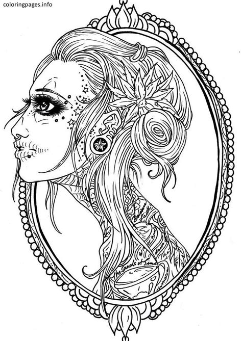 16 best Sugar Skull Coloring Pages images on Pinterest | Coloring books, Coloring pages and