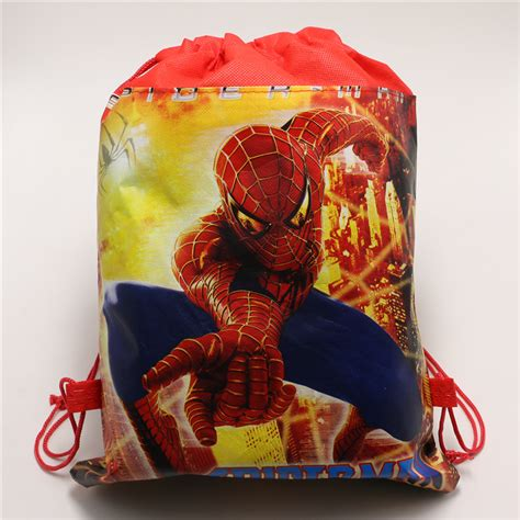Non Woven Fabric Drawstring Gifts Bags Baby Shower Happy