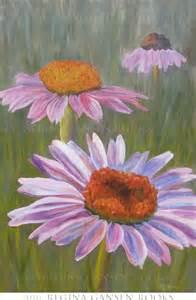 Purple Cone Flowers Acrylic Painting