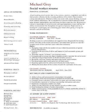 sample social worker resume templates  ms word